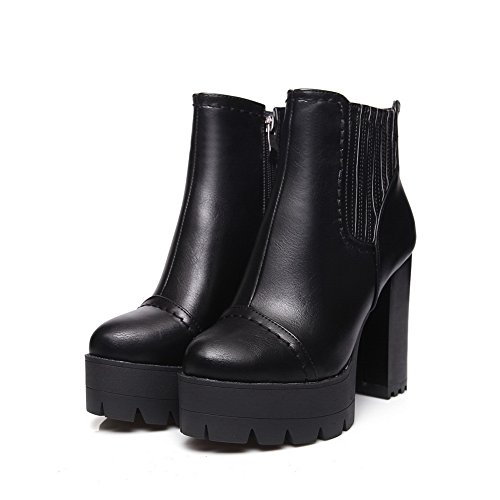 Urethane Womens Platform Black Slip Comfort Casual AdeeSu Resistant Boots SXC01837 HB1YdqYxw