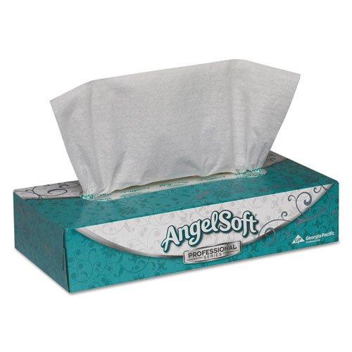 - Angel Soft ps Premium White Facial Tissue - Premium Facial Tissue, Flat Box, 100 Sheets/Box, White