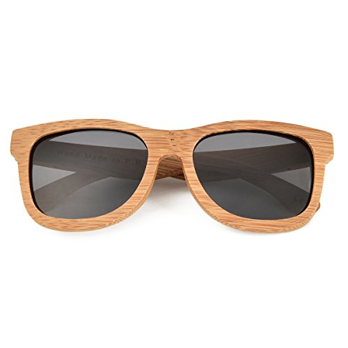 46a1a56884 JANGOUL Polarized Sunglasses Carbonized Bamboo Frame For Men Women with  Gift Box