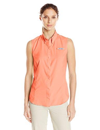 's Columbia Women Pink Tamiami Sleeveless Tiki Shirt 44wWqF5f