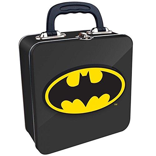 DC Comics - Batman Logo Embossed Black Tin Tote (Embossed Tin Box)
