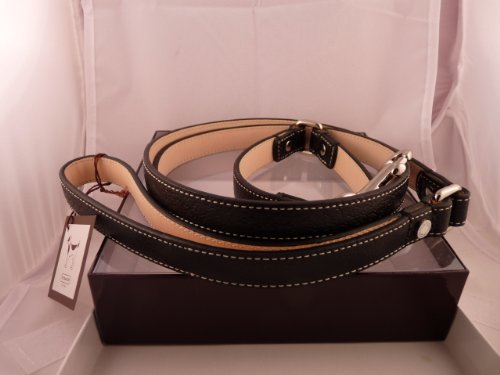Coach Black Leather Leash