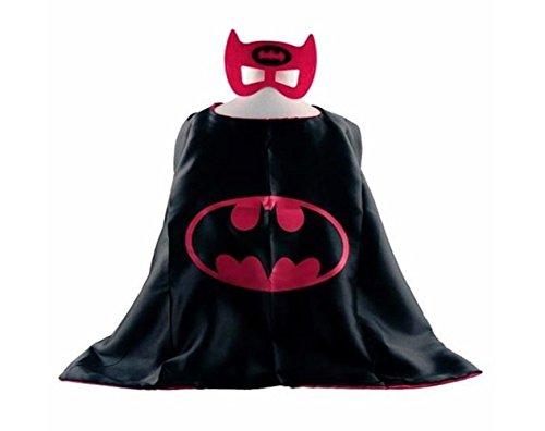 [Superhero BATGIRL CAPE AND MASK SET Super Hero **Ships from US** Halloween costume] (Batgirl Costumes Set)