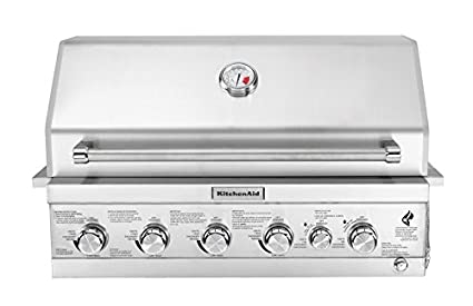 KitchenAid 740 0781 Built In Propane Gas Grill Head, Stainless