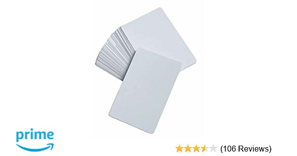 Blank Playing Cards, Glossy - DIY Game Cards, Memory Game, Flash Cards by Learning Advantage
