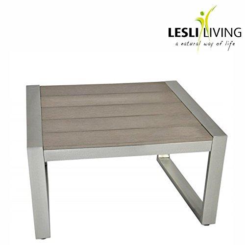 Loungetisch-Bassano-49x49x38cm-Polywood-grau-Aluminium-gebrstet-Gartentisch