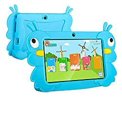 Cmrtew Portable 7 Inch Hd Kids Tablet For Children Android 6 0 1gb 16gb Ips Touchscreen Bluetooth Wifi Tablets For Kids Blue