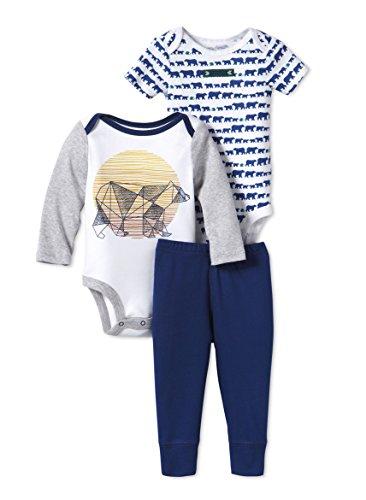 Lamaze Organic Baby Baby Organic 3 Piece Bodysuit Set, White, 12M