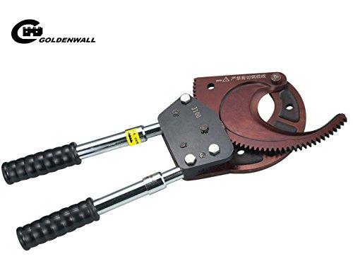 CGOLDENWALL ラチェット ケーブルカッターφ130mmまでのアルミコア外装ケーブルと3x300mm2銅コア外装ケーブル、銅とアルミケーブル切断可能 B07CDQX1X4