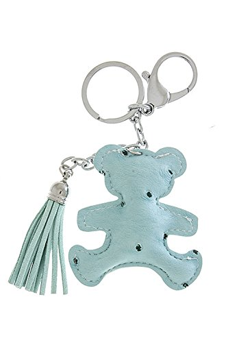 [KARMAS CANVAS FAUX CROCODILE LEATHER BEAR KEYCHAIN (Baby Blue)] (Bear Jew Costume)