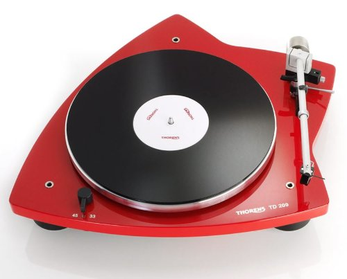 Thorens TD 209 Belt-Drive Turntable in Glossy Red (Belt Thorens Turntable)