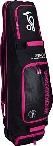 Best Soccer Buys Field Hockey Bag Luggage Xenon by Kookaburra (Black & Pink) image