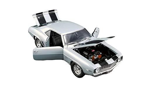 1969 Chevrolet Camaro Z/28 Silver Metallic with Black Stripes 50th Anniversary of The '69 Camaro Ltd Ed 918 pcs 1/18 Diecast Car by ACME A1805714
