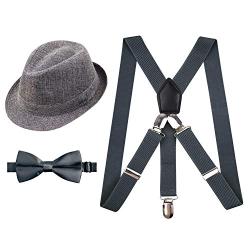 Suspender and Bow Tie Set for Kids