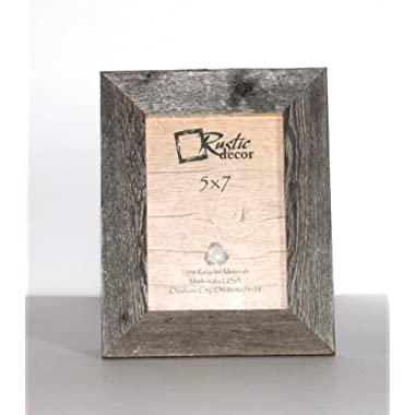 5x7 Picture Frames - Barnwood Reclaimed Wood Standard Photo Frame
