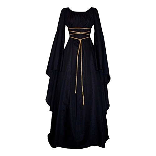 Partiss Women's Renaissance Medieval Irish Gothic Victorian Dress (Fancy Dress Ball Halloween Costumes)