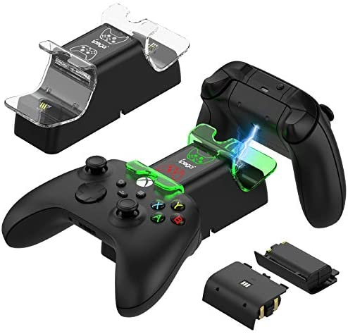 FYOUNG Dual Controller Charger Station for Xbox Series X/S, Charging Dock with 2 x 1400mAh Rechargeable Battery Pack and LED Indicator