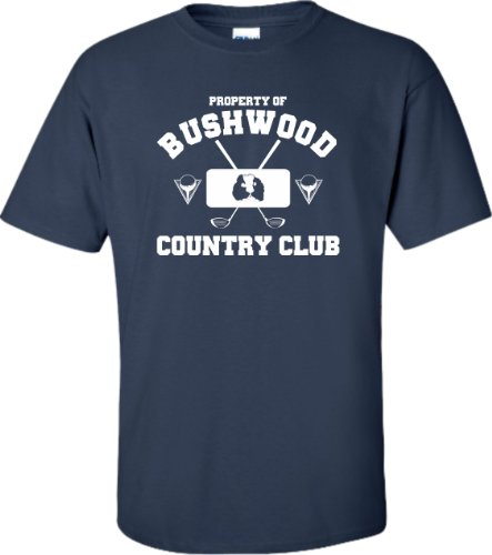 Navy Blue Adult Property Of Bushwood Country Club Caddyshack Inspired T-Shirt - L
