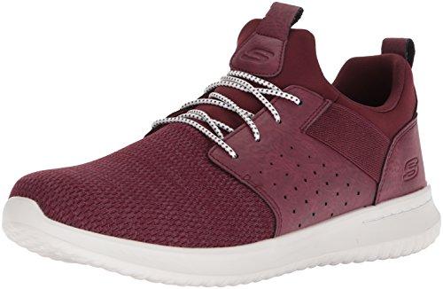 Skechers Men's Classic Fit-Delson-Camden Sneaker,burgundy,7 M US