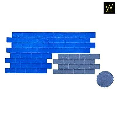 Worn Brick Running Bond Concrete Stamp Set by Walttools   Classic Masonry Paver Pattern, Sturdy Polyurethane Texturing Mats, Decorative Realistic Detail