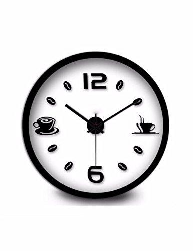 SUNQIAN-Simple living room wall clock, American modern bedroom wall, mute quartz watches creative,B by SUNQIAN