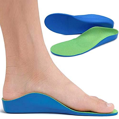Ailaka Kids Orthotic Cushioning Arch Support Shoe Insoles, Children Pu Foam Inserts for Flat Feet, Plantar Fasciitis, Feet Heel Pain Relief