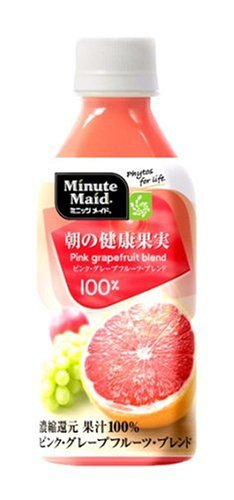 350mlX24 this Minute Maid morning of healthy fruit pink grapefruit blend 350ml PET bottles by Coca-Cola