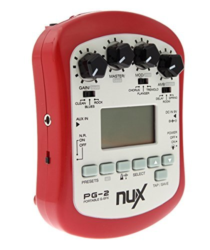 NUX PG-2 Guitar Effect Multifunctional with 3 Selectable Rhythm Patterns by NUX