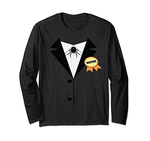 Mayor Tuxedo Costume Spider Web Long Sleeve Shirt -