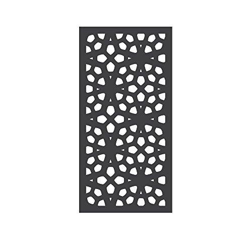 OUTDECO 5/16 in. x 24 in. x 48 in. Marakesh Modular Hardwood Composite Decorative Fence Panel