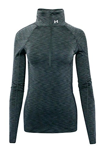 Under Armour Women's UA Athletic GOLDGEAR 1/2 Zip Running Shirt Top Heather Grey (M) (Cold Gear Tank compare prices)