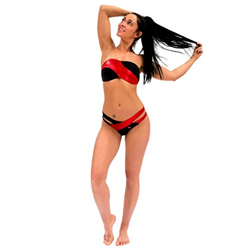 Wink Designs - Conjunto - para mujer black/metallic red