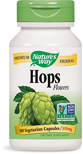 Nature's Way Hops Flowers, 310mg, 100 Capsules (Incense Venus)