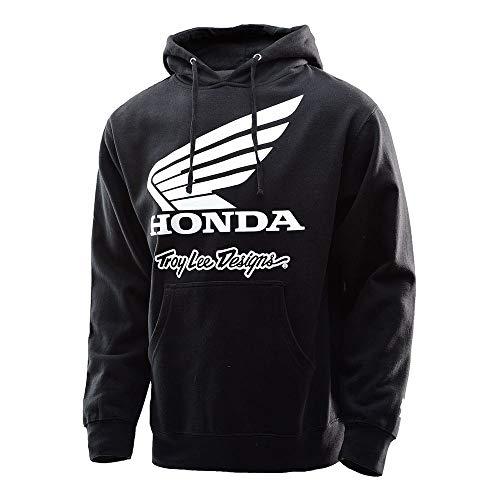Pullover Sports Lee - Troy Lee Designs Mens Official Licensed Honda Wing Hoody (Black, XX-Large)