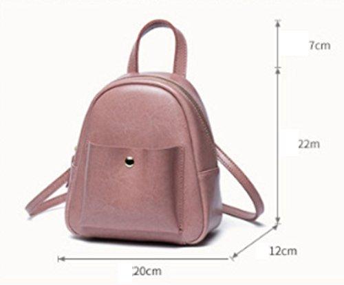 Leather Black Rucksack Travel Cute Lady Backpack Mini Shoulder Bag gEOqwq8