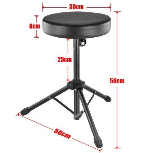 TOOGOO(R) Quality Folding Music Guitar Keyboard Drum Stool Rock Band Piano Chair Seat by TOOGOO(R) (Image #3)