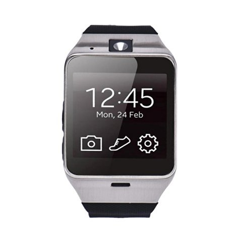 Pacoco Aplus GV18 Bluetooth phone GSM NFC Camera Waterproof Smart Watch for iPhone 4/4s/5/5s/6/6s 6 6s plus,iPad 3/4/5/6 Plus,Andriod Samsung,HTC,Sony,LG,HuaWei,ZTE,OPPO (Black)