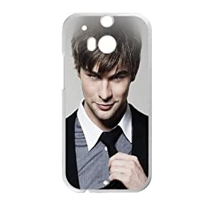 HTC One M8 Cell Phone Case White hd88 crawford chace handsome actor celebrity I7Q8BM