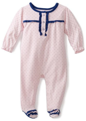 ABSORBA Baby-Girls Newborn Ahoy Nautical Printed Footie