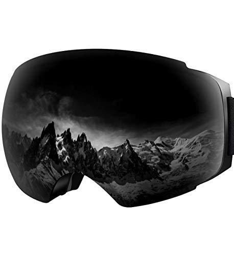 2f192bee967 YAKAON OTG Ski Goggles UV Protection Snowboard Goggles Frameless Spherical  Anti-Fog Lens for Men