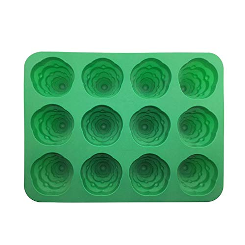 Pausseo 3D Christmas Tree Fondant Cake Bread Decorating Silicone Prop Mold Cool Flexible Stackable Fondant Baking Chocolate Biscuit Candy Jelly DIY Tool Stacking Tray Storage Containers (Green)