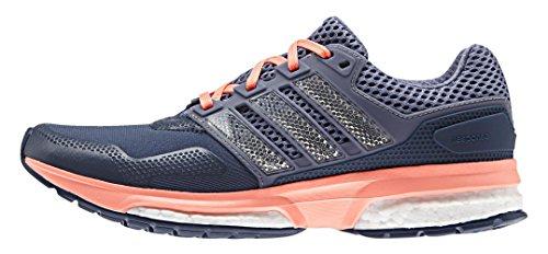 adidas Response 2 Techfit W, Zapatillas de Running para Mujer Azul / Morado / Rojo (Azumin / Morsup / Brisol)