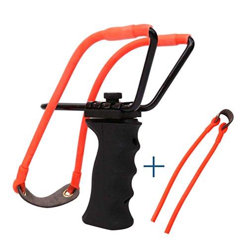 Hunting Slingshot Rubber Bands Adult Powerful Target Shooting Slingshot...