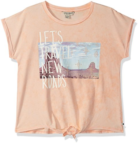 Lucky Brand Big Girls' Fashion Top, Jacinda Salmon, Large by Lucky Brand