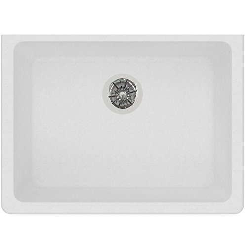 Elkay Quartz Classic ELGUAD2519PDWH0 White Single Bowl Undermount ADA Sink with Perfect Drain