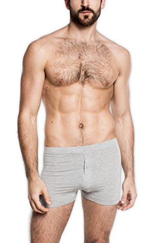 Tani USA Men's SilkCut Slim Boxers with Button Fly, X-Large, ()
