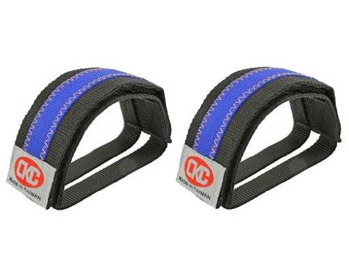 Double Nulon Black Blue/Straps. Bike pedal strap, bicycle pe