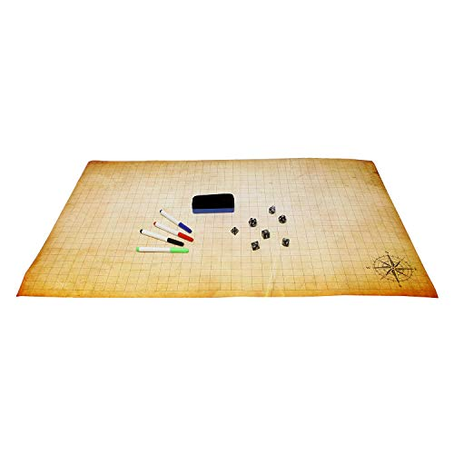 Get Out! DND Battle Mat Dungeons and Dragons Board Game Play Mat DND Mat Dry Erase Mat Role Playing Game Board, 2 x 3 Ft ()