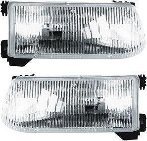 Evan-Fischer EVA1356513322 New Set of 2 Headlights Driving Head lights Headlamps Driver & Passenger Side Sedan LH RH FO2503122, FO2502122 F5TZ13008A, F5TZ13008B Pair ()