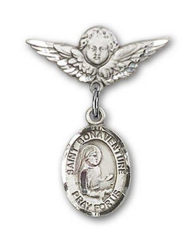 Icecarats Créatrice De Bijoux En Argent Sterling St. Bonaventure Charme Ange Pin Badge 7/8 X 3/4